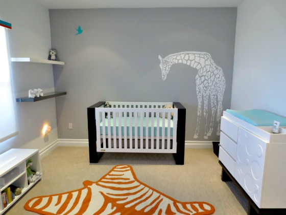Giraffe Wall Decal in Nursery