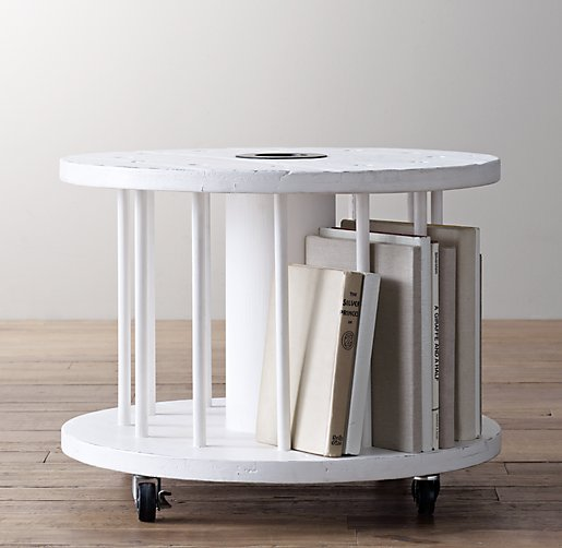 Restoration Hardware Vintage Spool Side Table