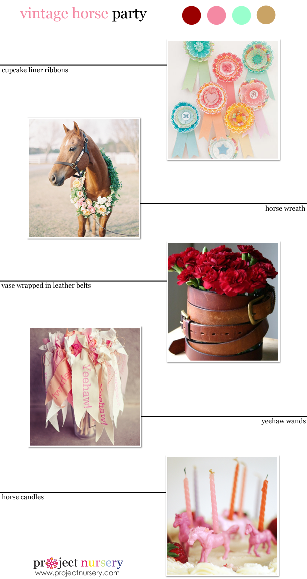 Vintage Horse Party Inspiration Board