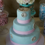 Clock Themed Baby Shower Cake Up Close