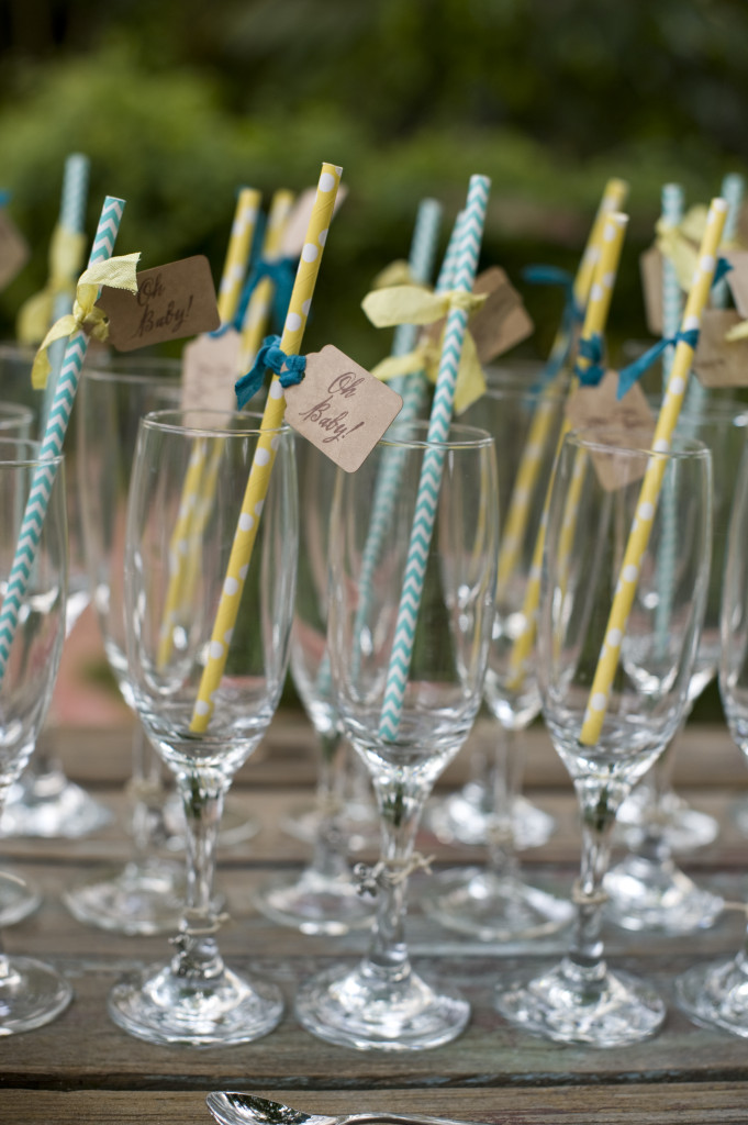 Gender Neutral Baby Shower Straws