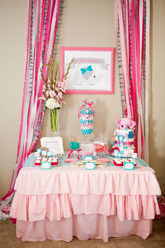 Party Reveal Baby Elephant Shower
