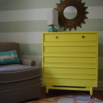 Woodland Striped Nursery Yellow Changer
