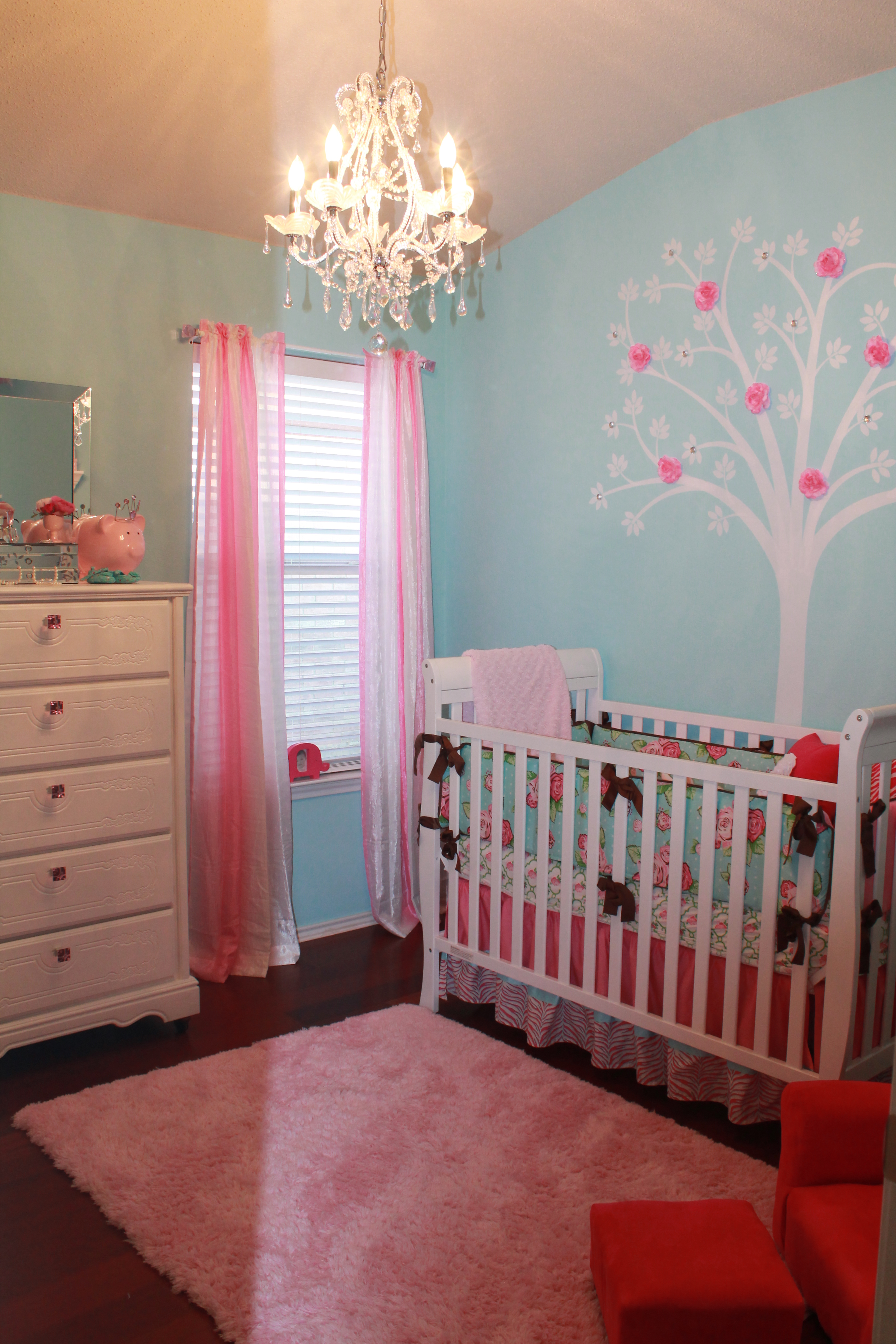 Arabella S Pink And Turquoise Nursery Project Nursery