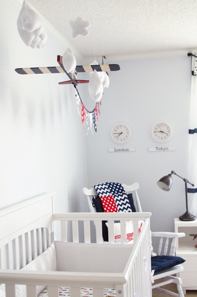 Vintage Airplane Decor Nursery The