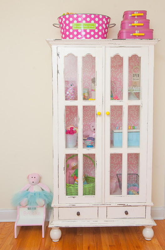 Vintage Baby Girl Nursery Armoire