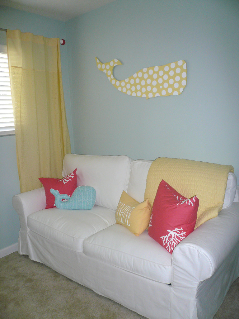 Girl Nautical Nursery Sofa Wall