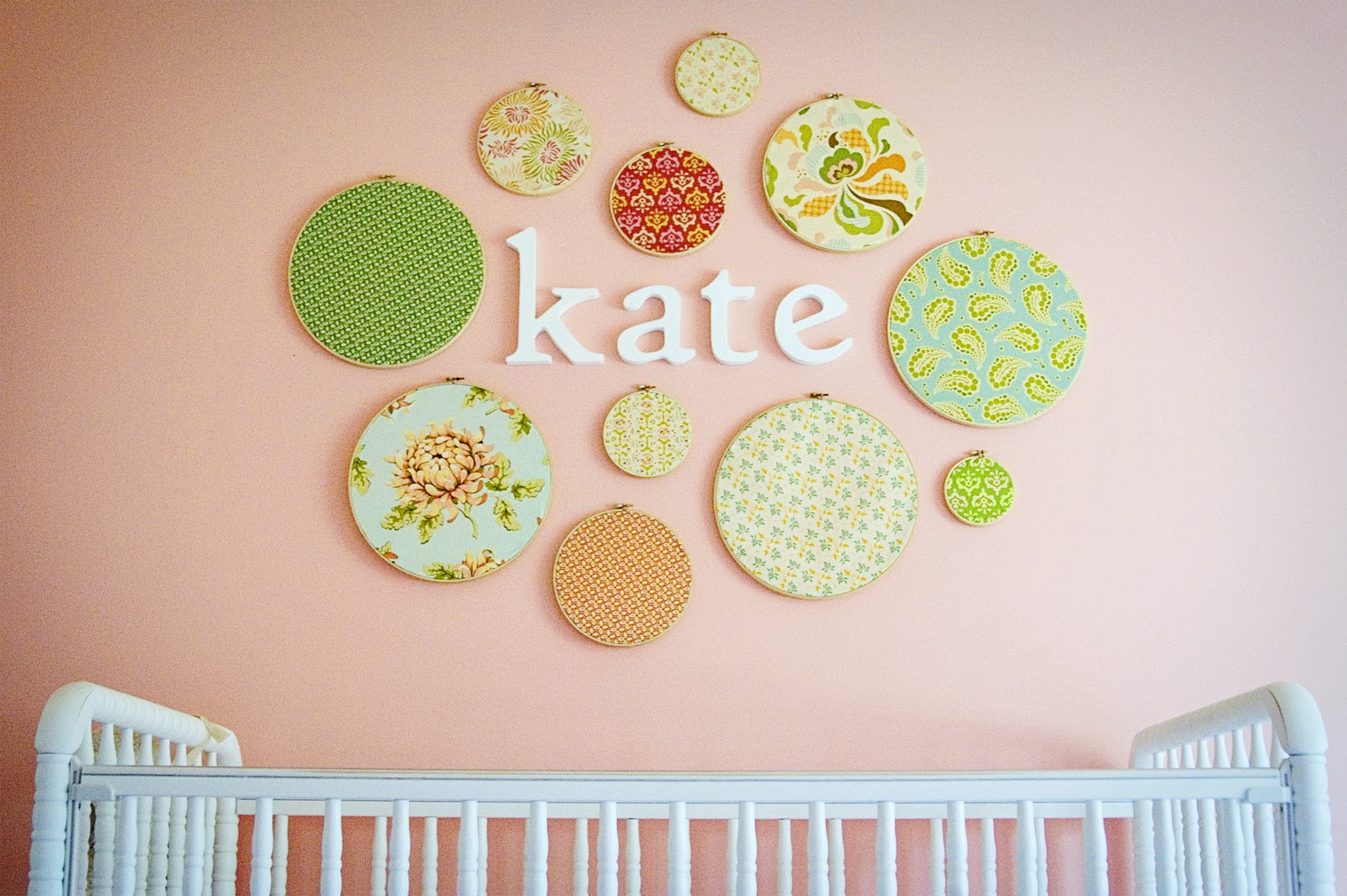 Embroidery Hoop Wall Art Crib Wall