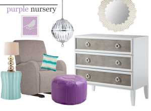 Purple Nursery Design Board