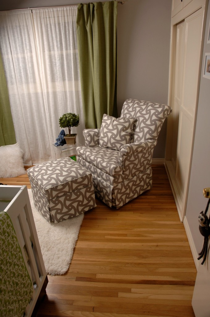 Baby Boy Gray Nursery Glider