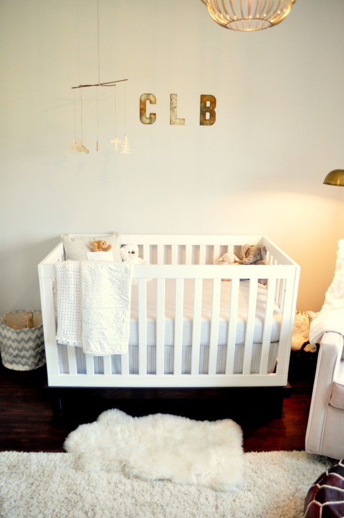 Rustic and Contemporary Nursery Crib View
