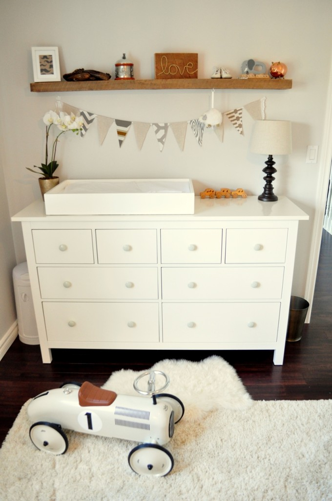 Rustic and Contemporary Nursery Changer