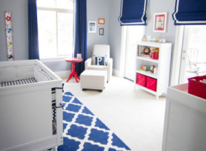 Red White and Blue Nursery