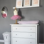 Grey and Pink Girl Nursery Changer