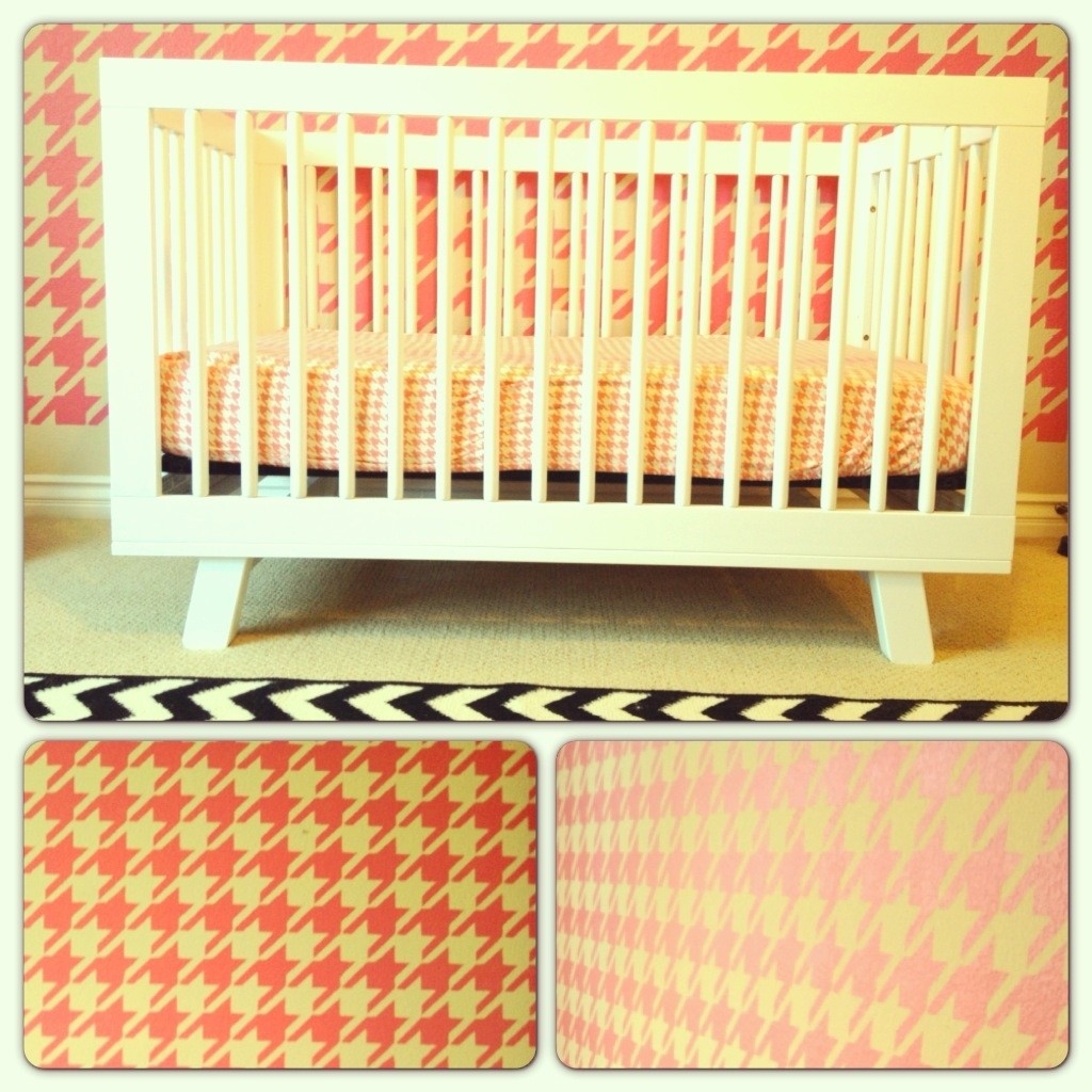 Girl Houndstooth Nursery Houndstooth Crib