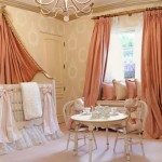 Window Treatments in Girl's Nursery - Silk Drapes