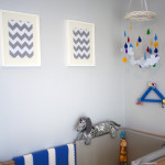 Boy Yellow and Gray Nursery