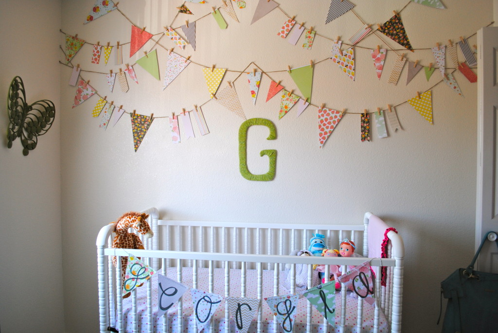 Girl Eclectic Nursery Crib View
