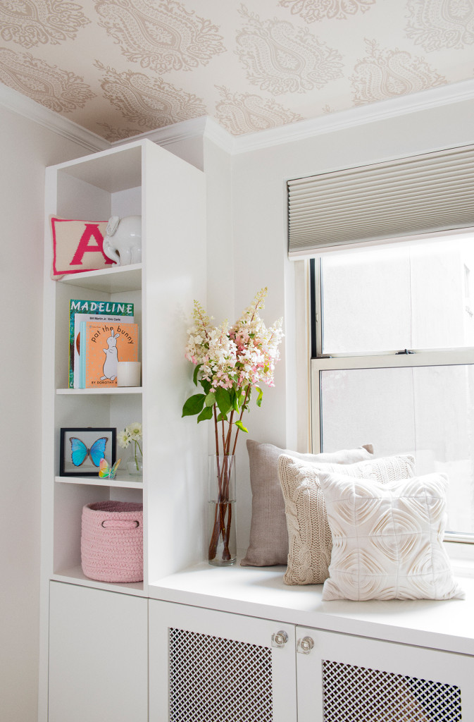 Nursery Bookshelves with Window Seat
