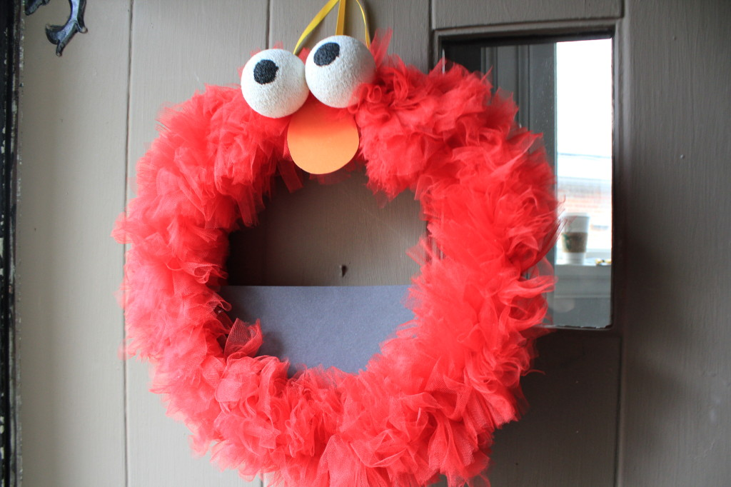Elmo Birthday Bash Wreath