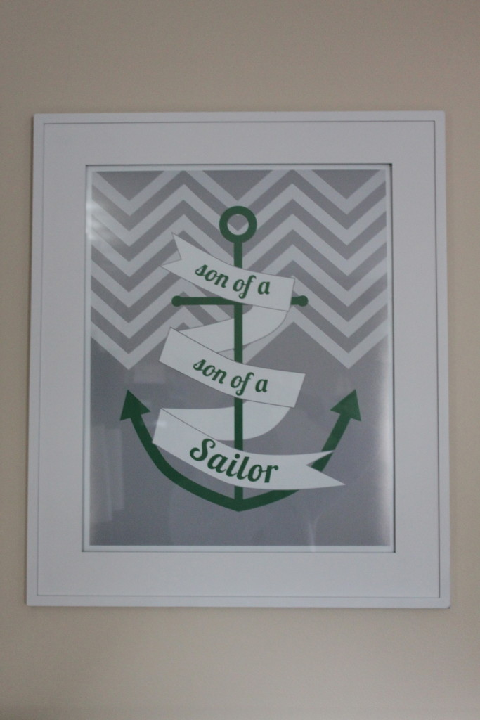 Boy Nautical Nursery Wall Art