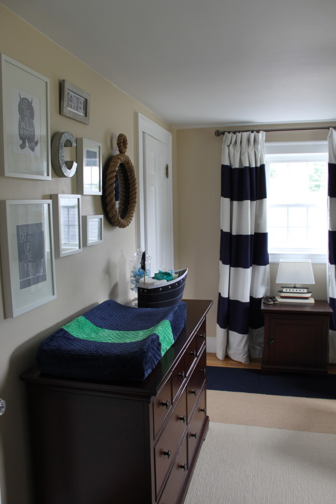 Boy Nautical Nursery Room View