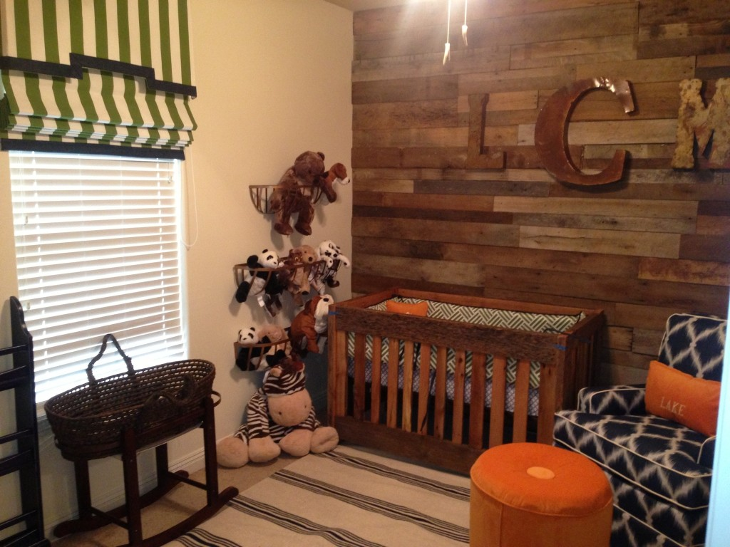 Boy Wood Paneled Nursery