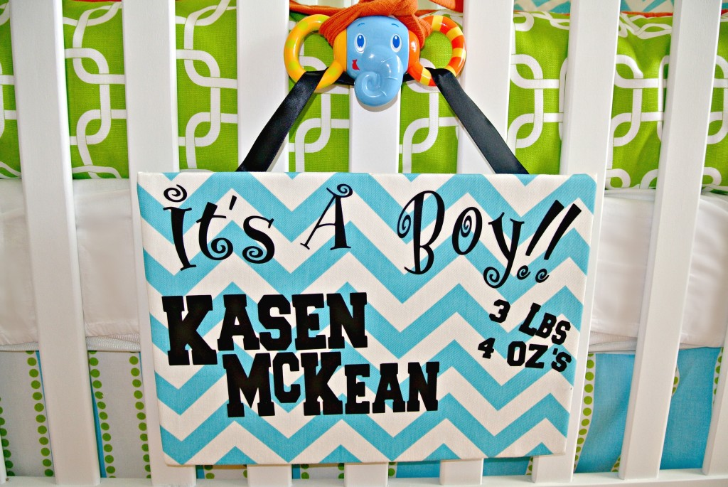 Bright and Cheerful Boy Nursery Sign
