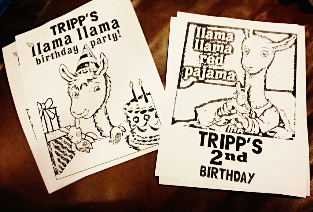 Llama Llama Pajama Party! Coloring Sheets