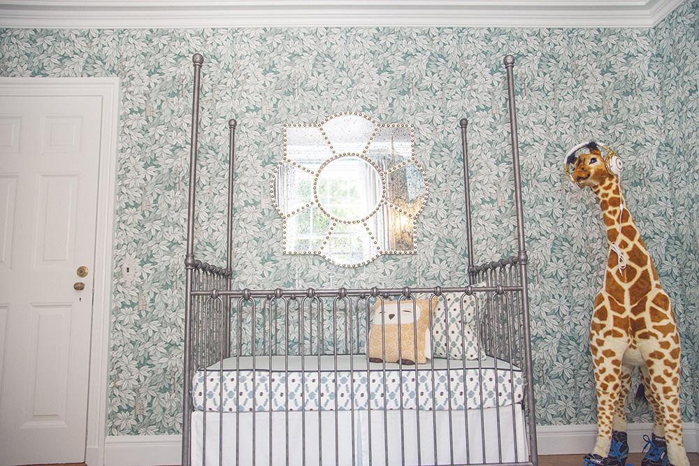 Chic and Sophisticated Nursery Crib View