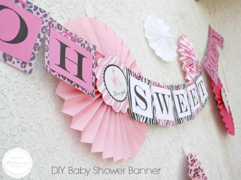 Sweets Table Baby Shower Baby Shower Banner