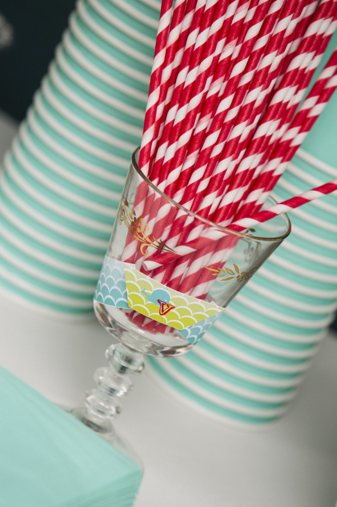 Red and White Striped Paper Straws