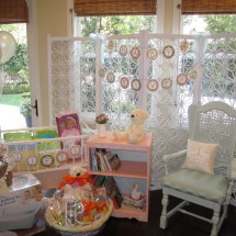Vintage Peach and Mint Baby Shower