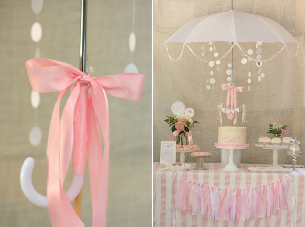 Shower umbrella centerpiece images for Baby shower umbrella decoration ideas
