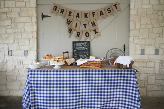 Breakfast-Themed Birthday Party Buffet Table - Project Nursery