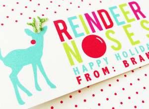 Classroom Holiday Treat Rudolph Reindeer Free Printable - Project Nursery