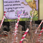 Striped Straws in Mason Jars