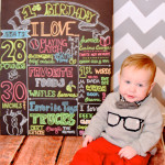 First Birthday Stats Chalkboard