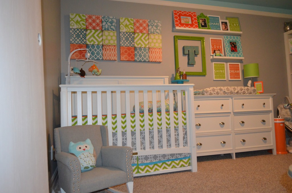 Green Blue and Orange Nursery - Project Nursery
