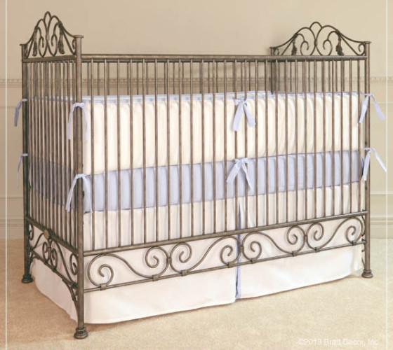Iron Casablanca Crib in Pewter from Bratt Decor