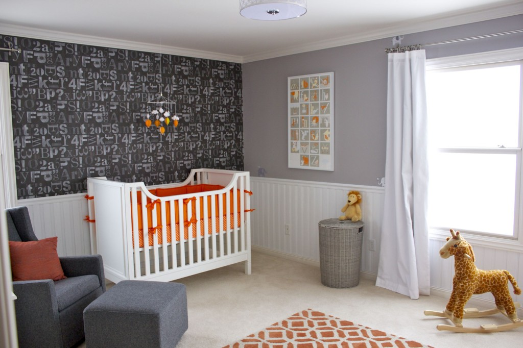 readers 39 favorite orange gray and white nursery project nursery. Black Bedroom Furniture Sets. Home Design Ideas