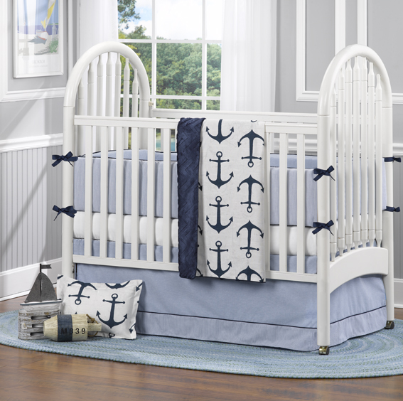 Nautical Baby Bedding by Liz and Roo