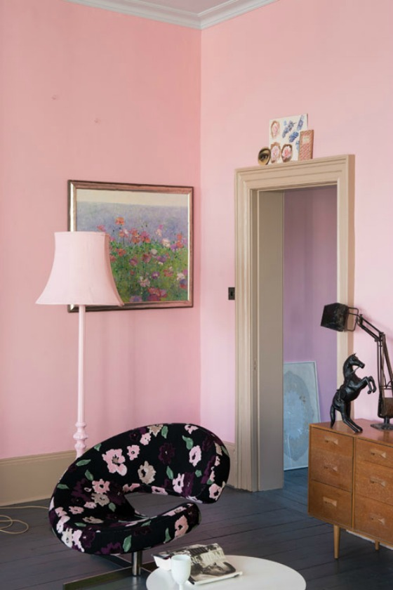 Nancy's Blushes Pink Paint by Farrow and Ball