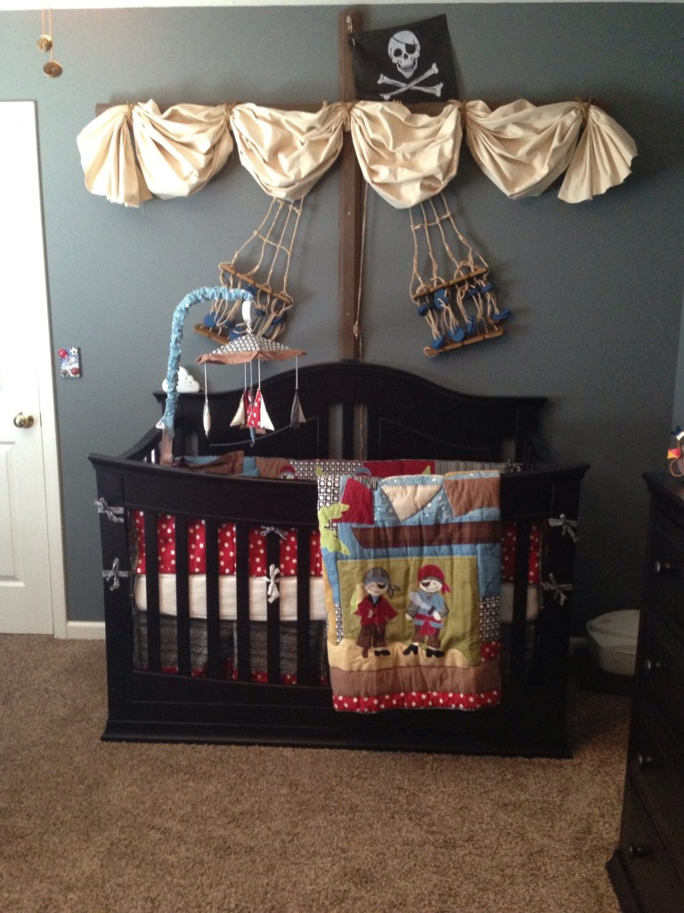 Home design pirate baby room for Baby cot decoration ideas