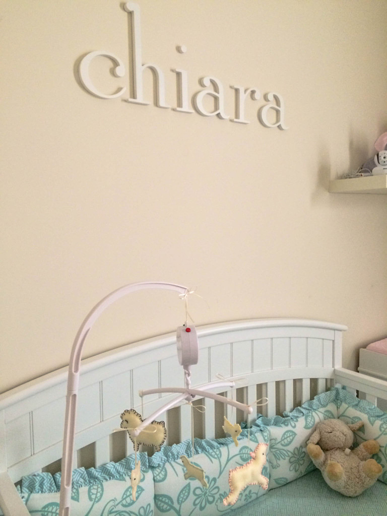 Personalized Name Wall Decor and DIY Lamb Mobile