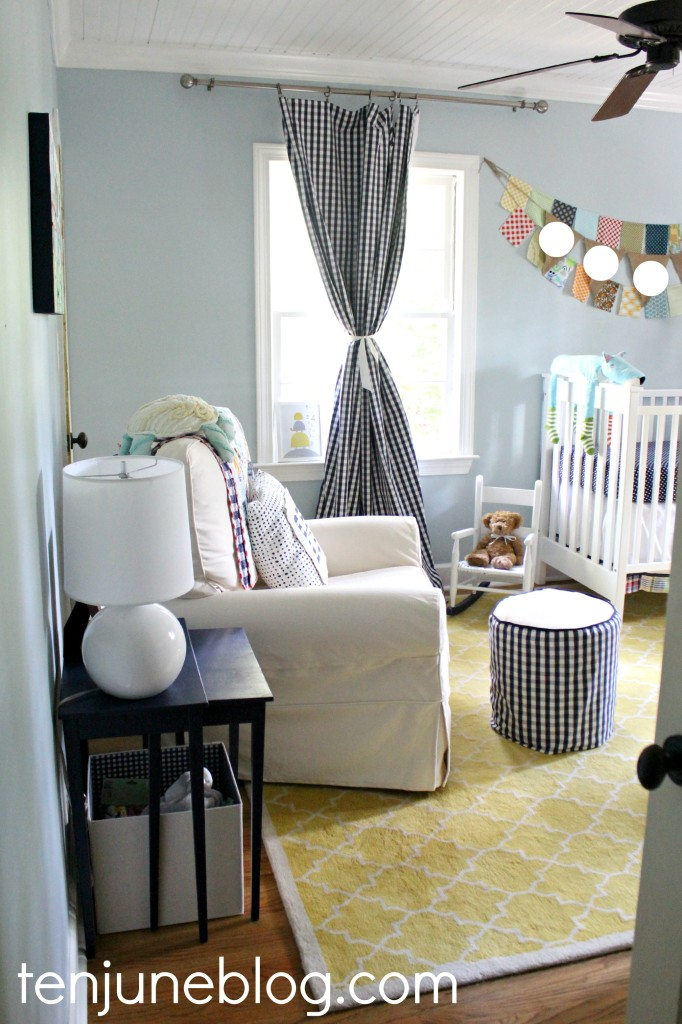 Baby Boy Room Color Ideas: Crisp And Clean Little Boy's Eclectic Blue And Yellow
