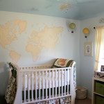 World Map Nursery Wall