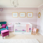 Purple, Teal and Mauve Striped Nursery