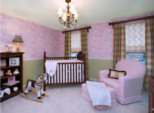 Traditional Pink and Green Nursery - Project Nursery