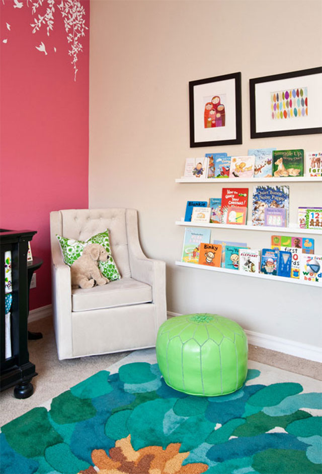Book Ledges with Art Prints from Etsy
